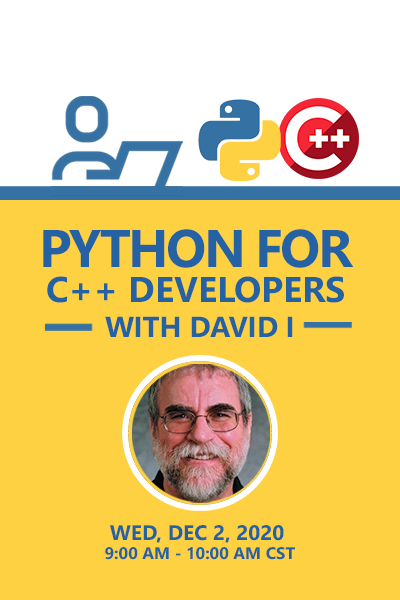 14 Banner Python For C Developers With David I 400x600