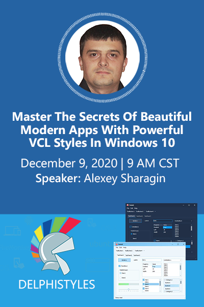 38 Banners Webinar  Maximizing Vcl Styles For Windows 10 Domination 400x600